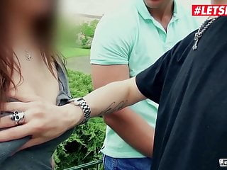 LETSDOEIT - Anal Adventure at the Bus Stop with Busty MILF