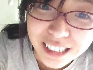 Korean sexy nerd girl with glasses
