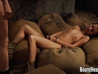 Blonde Lesbian Huntress And Her Slave In 69 Action