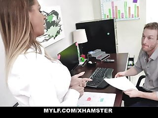 MYLF - Big Tit Milf Beauty Sucks Off Her Boss For A Raise
