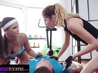 Fitness Rooms Squirting MFF 3 way with Barbara Bieber