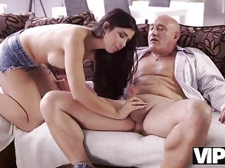 VIP4K. Mira Cuckold takes part in her first old and young