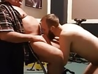 Giving my st8 father his first blow job in my room
