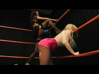 Blonde on Brunette Wrestling Match