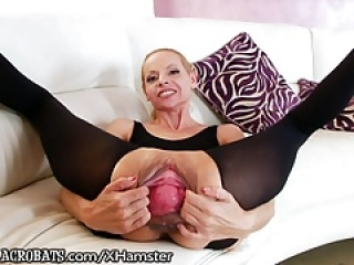 AnalAcrobats Wide Open and Prolapsed Lesbian