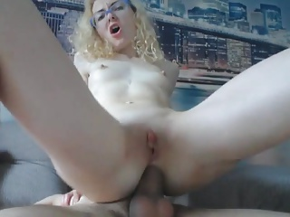Webcam Slutty Nerd gives Footjob & takes Anal & Creampie