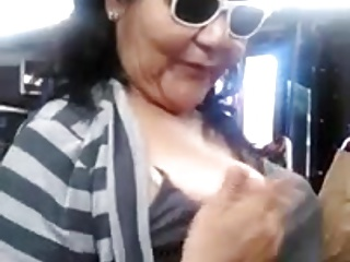 Lady Pulls Out Tit on Bus
