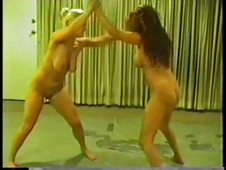 Lesbian Submission cat fight (2)