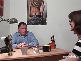 Amateur casting couch of a sweet busty brunette hard banged