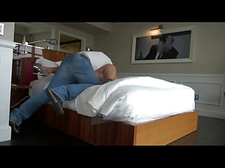 Blonde BBW fucked in hotel room