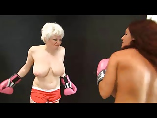 Scarlett vs Goldie Topless Boxing (full - requested)