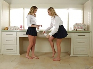 Kenna James and Mia Malkova Hot Lesbian Adventure