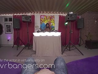 VRBangers Sexy Asian DJ Rocks Your Hard Cock In Her Mouth