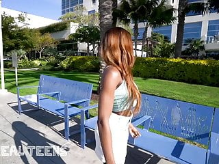 Real Teens - Tattooed teen Kinsley Karter pov parking garage