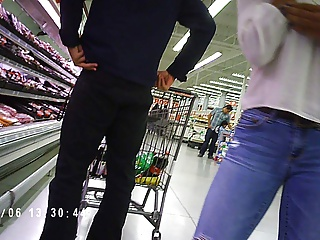 Hot Black Teen With Firm Ass In Grocery Store