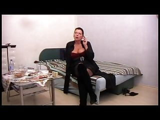 Mature amateur lady smokes, POV