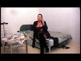 Mature amateur lady smokes, POV