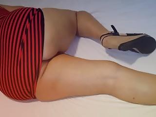 Minha deliciosa irma mais nova calcinha em mini vestido