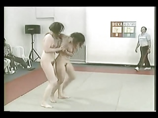 Hairy Milfs cat fight Comp