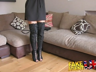Fake Agent UK Tight pussy Essex chick returns for 2nd casting