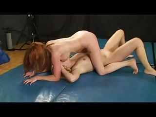 Lesbian Mat Wrestling