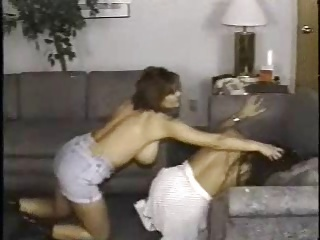 Retro Busty cat fight