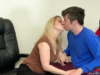Stepmom fucks stepson before his date