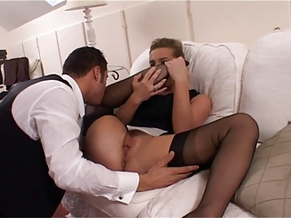 British Slut Louise in Black FF Stockings