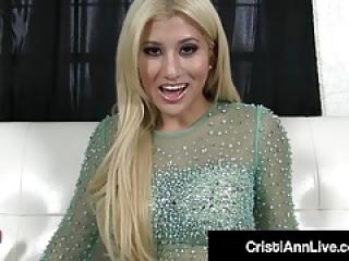 داغ زن لاتین کریستی ان به شما می دهد داغ دستورالعمل تقدیر خوردن!