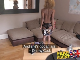 Fake Agent UK Perfect ass and tits ebony chick wants sex