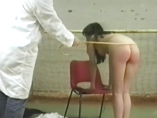 Schoolgirl spanked in gym by teacher