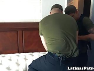 Bigbooty لاتینا توسط افسر آمریکایی حفر
