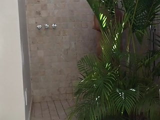 hidden cam MILF in hotel shower